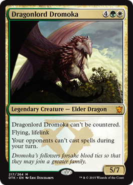 Dragonlord she may be, Dromoka still does lookout duty from time to time.