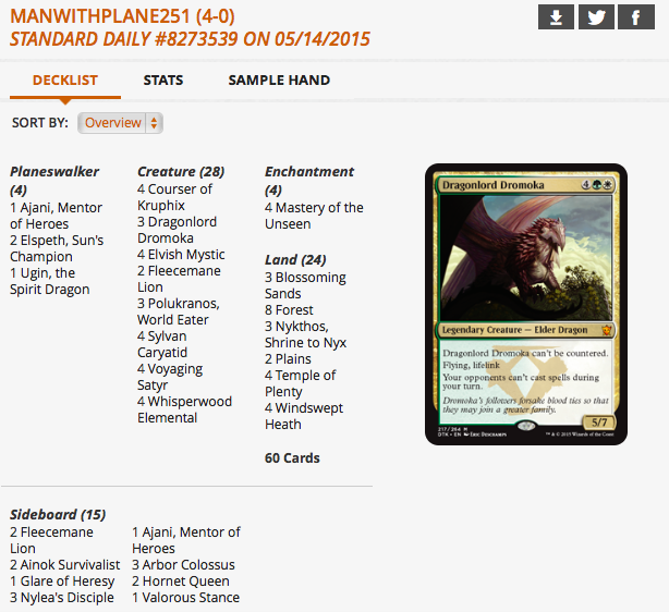 Dragonlord Dromoka in GW Devotion