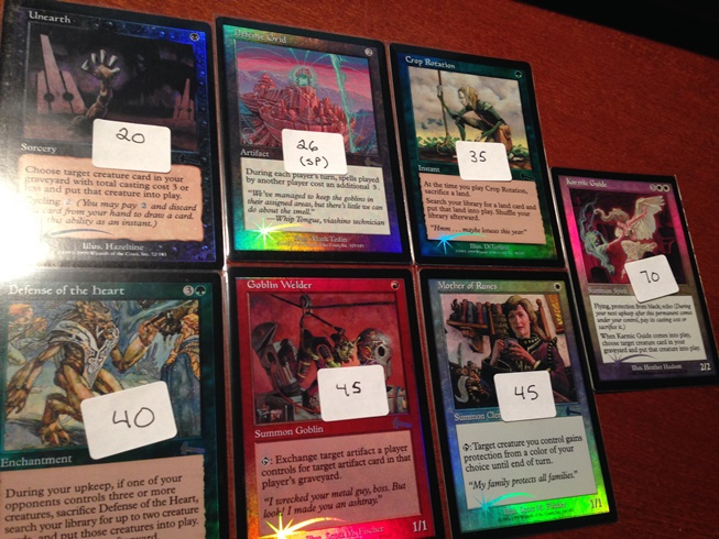 Juicy Urza's Legacy foils