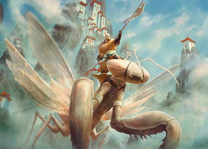 Mantis Rider by Johann Bodin
