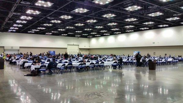 The empty tables were plentiful Saturday