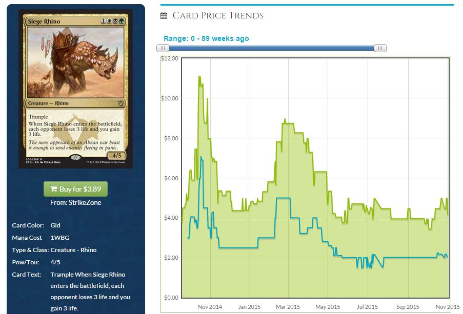 siege rhino price