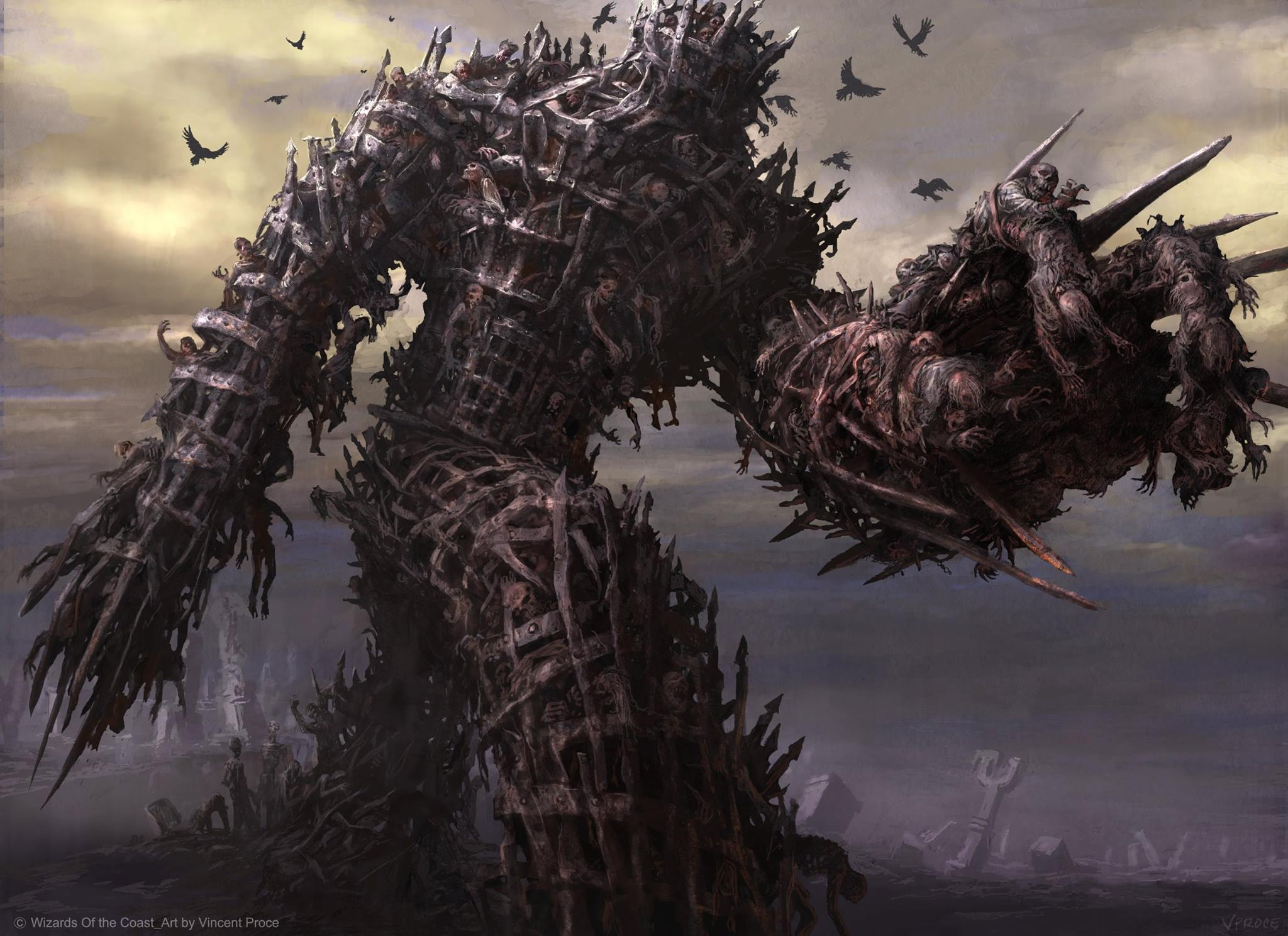 Diregraf-Colossus-Shadows-over-Innistrad-Art